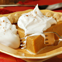 pumpkin pie w homemade whipped cream