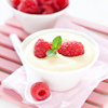 airy white chocolate pudding