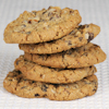 banana walnut raisin oat cookies