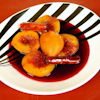 cinnamon poached peaches