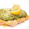 crispy pesto striped bass