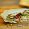 feta stuffed chicken pita