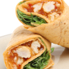 ginger peanut chicken vegetable wraps