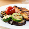 grilled chicken summer veggies