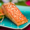 honey sesame grilled salmon