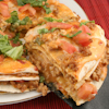 layered mexican veggie pizza