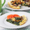potato egg spinach pie