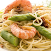 shrimp asparagus spaghetti garlic cream sauce