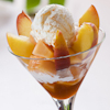 warm peach sundaes