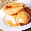 warm pears orange syrup