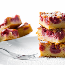 almond cherry cake bars