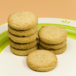 almond shortbread rounds