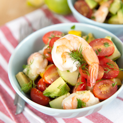 blue cheese cobb salad shrimp