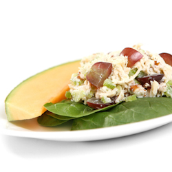 chicken apple salad cantaloupes