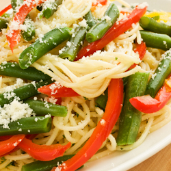 chilled green bean linguine salad
