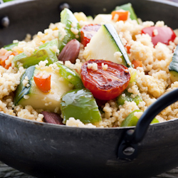 chilled whole wheat couscous salad