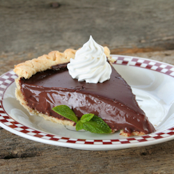 chocolate cherry pudding pie