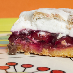 crunchy meringue cherry bars