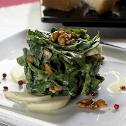 curried apple nut spinach salad