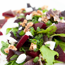 honey mustard beet salad