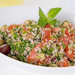Lemon Farro and Tomato Salad -