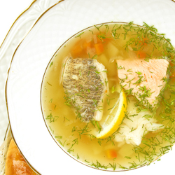 Lemon Tilapia Soup