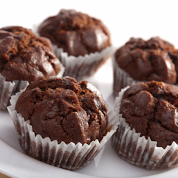 how to stop chocolate chips melting in muffins