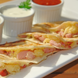 Reuben Chicken Quesadillas -