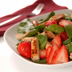 also has chicken spinach strawberry bbq chicken spinach balsamic ...