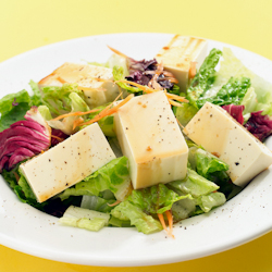 Warm Cabbage Tofu Salad -