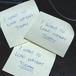 fitness goal sticky notes