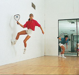 racquetball off the wall
