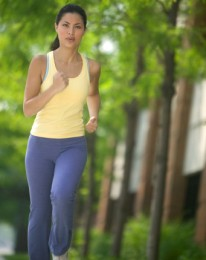 female jogging