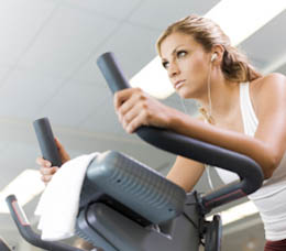 interval training at gym