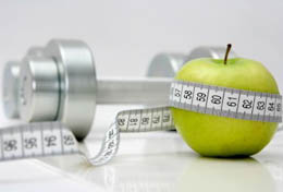 barbell apple measuring tape