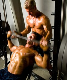 incline bench press with a spotter