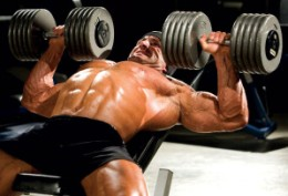 flat dumbbell presses