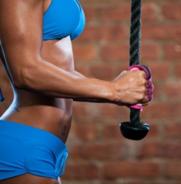 triceps rope pushdowns