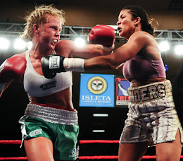 women boxing match